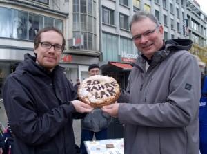 LAK Sprecher Lars Niggemeier - DGB - und Martin Fischer - Diakonie