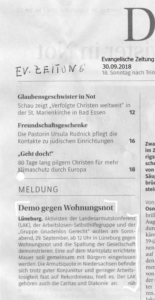 180929Evangelische Zeitung Aktion Lüneburg