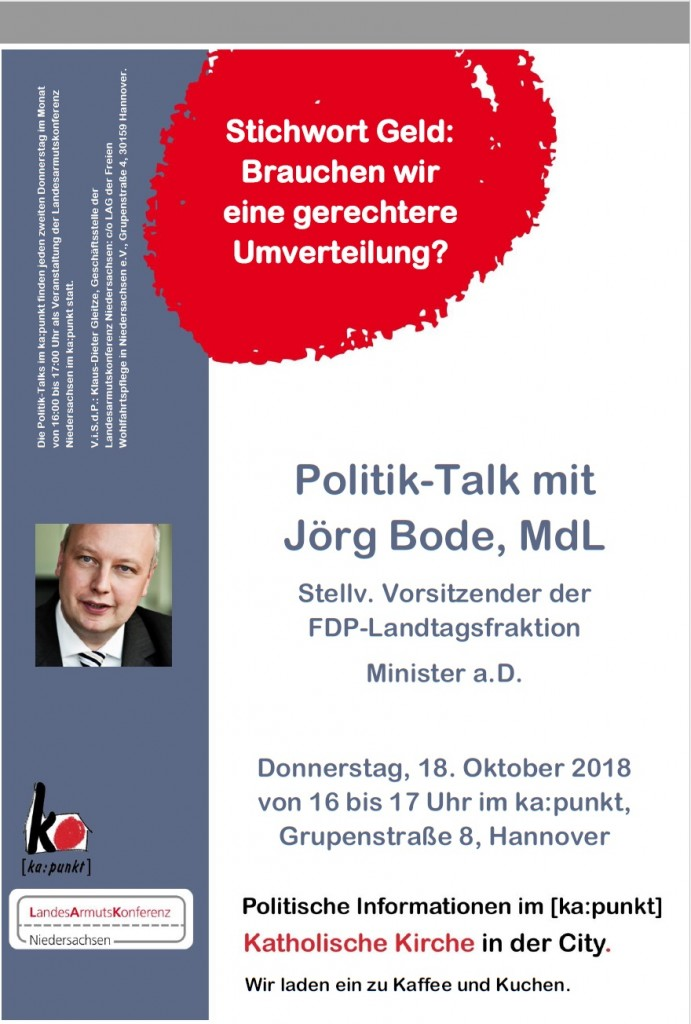 plakat jörg bode politik talk 18.10
